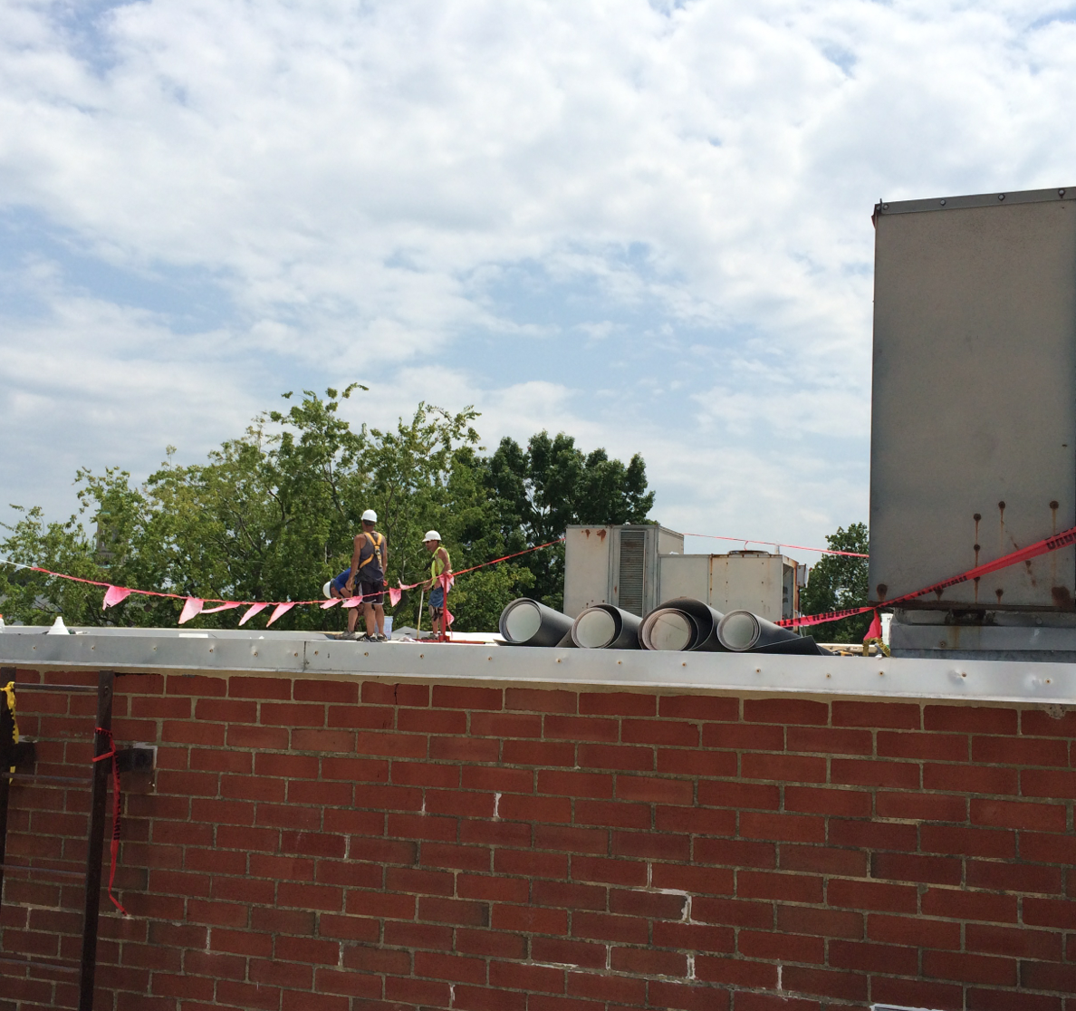 Flat Roofs and Blue Skies in Norfolk, VA